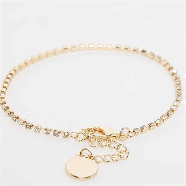 Yiwu Aceon yiwu factories luxury steel Disc Charm bracelet for Christmas Gift