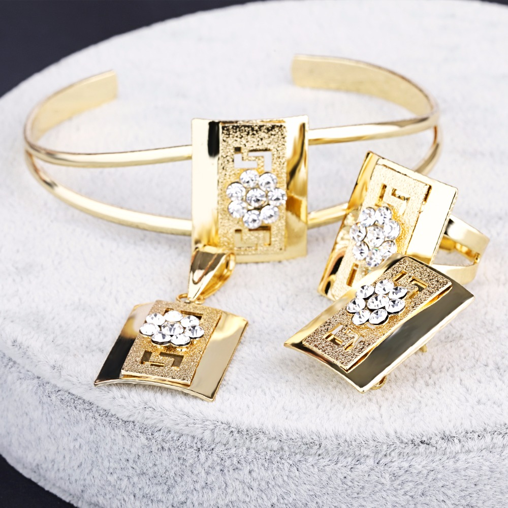 24k gold dubai african gold plated jewelry sets