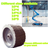 Top seller high quality natural rubber hydraulic scissor lifts tire 15*5 for genie GS2032,2046,2632,2646