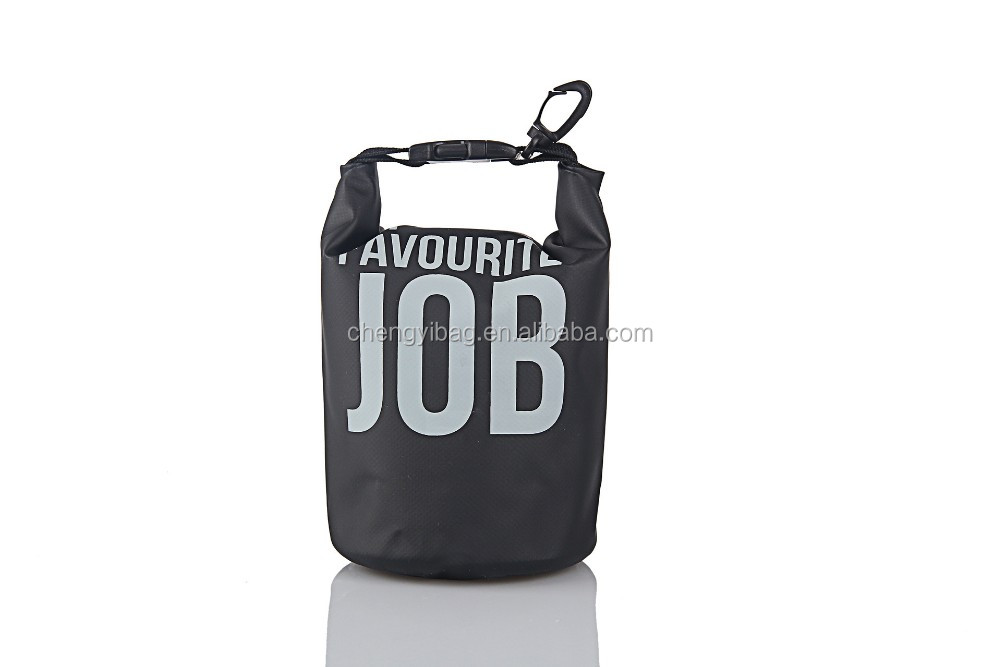 Stylish Black Nylon Dry bag with Embroidery handle