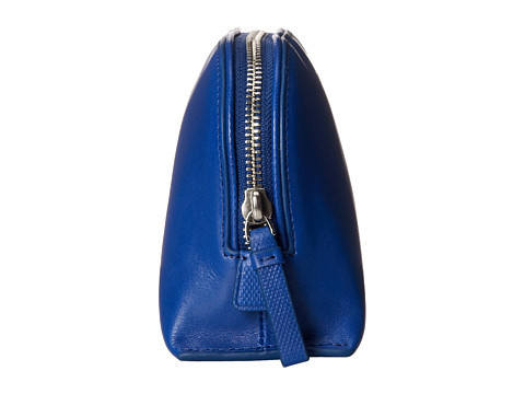 High Quality Blue PU Leather Cosmetic Bag for Women