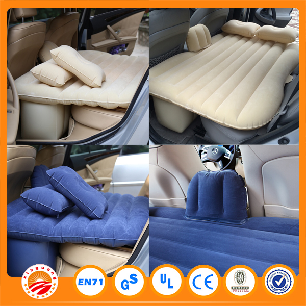 Adult Travel Used Flocked sleeping bed inflatable car air bed mattress for sale