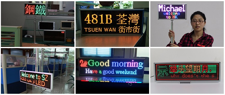 Wholesale full color P5 with wifi communication led banners display screen