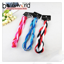 New hot fashion wide weave elastic headband with silicone