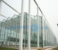 Agricultural Multi Span Glass Greenhouse