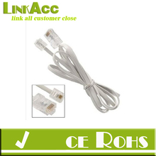 Gino Telephone RJ11 6P4C to RJ45 8P8C Connector Plug Cable