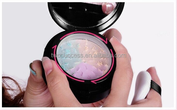Three Colors Professional Face Cosmetics Mineral Loose Powder