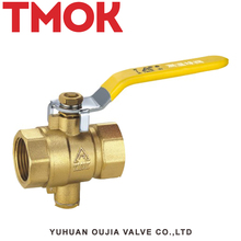 brass with steel long handle temperature galvanized ball valve