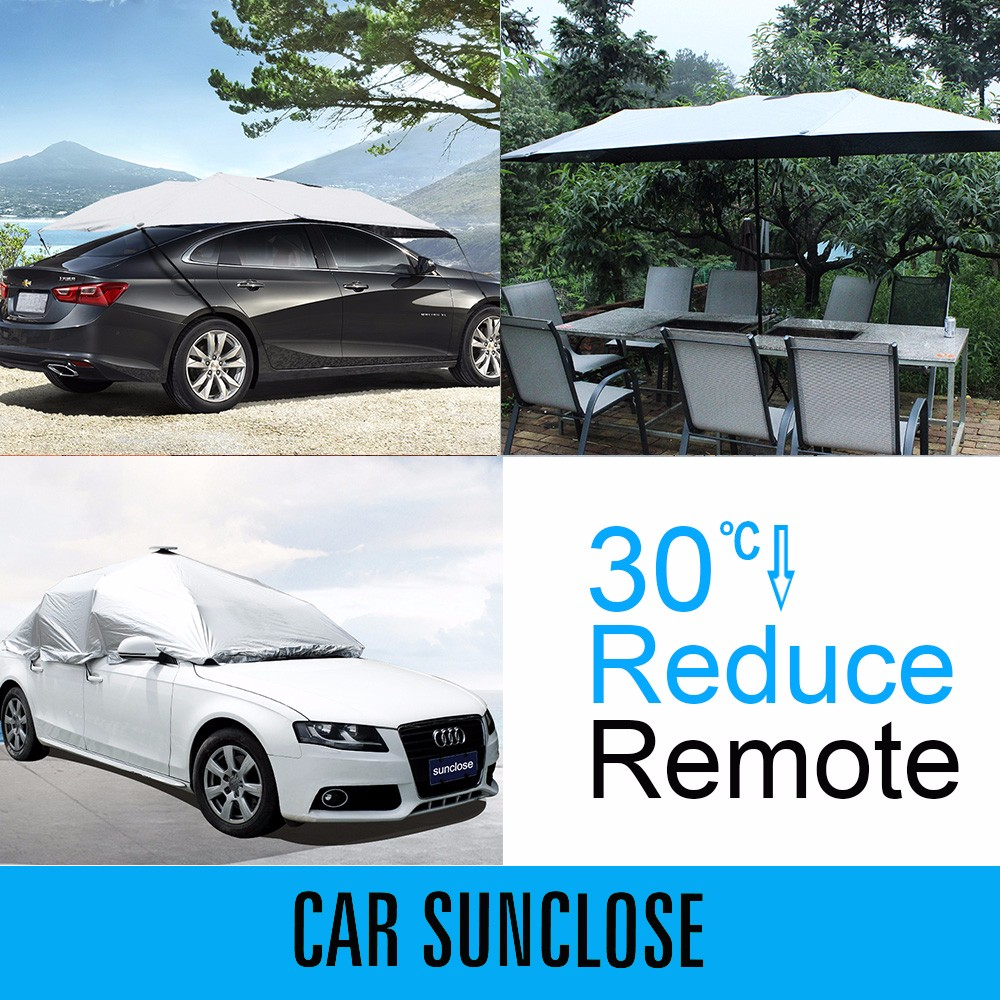 SUNCLOSE new design car seat cover awning motorhome