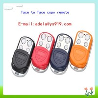 Mini 2buttons face to face copy remote key can be compatible with hopping code and fixed code,433.92MHz remote with blue color