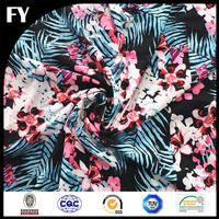 Best Selling 2016 Fashion Design Latest Custom Digital Print 100% Polyester Crepe De Chine Material CDC Dress Fabric