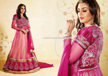 New Bollywood Mugdha Godse Designer Suit Pakistani Anarkali Heavy Embroiderry Suit