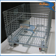 stackable stillage industrial wire mesh container / roll storage cage