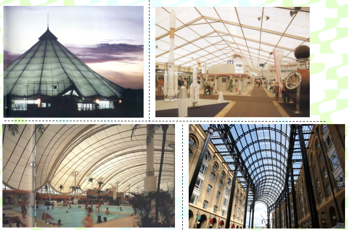 ETFE Membrane Structure Shopping Mall Shared Space