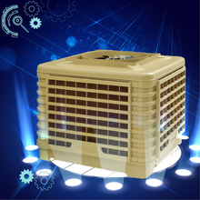 Duct industrial evaporative air cooler for open space cooling