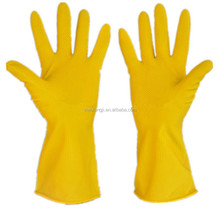 WJ143110g Long sleeve liquid proof industria latex rubber /Industrial working safety latex Gloves/Industry & Household Latex Glo