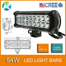9inch 54W Flood / Spot / Combo beam 4200LM of Off-Road heavy duty, ATV, UTV, agriculture, marine, mining 54W cree led light bar