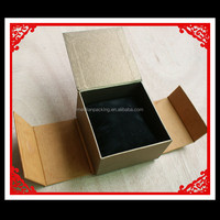 Flat folding corrugated paper card gift box pattern
