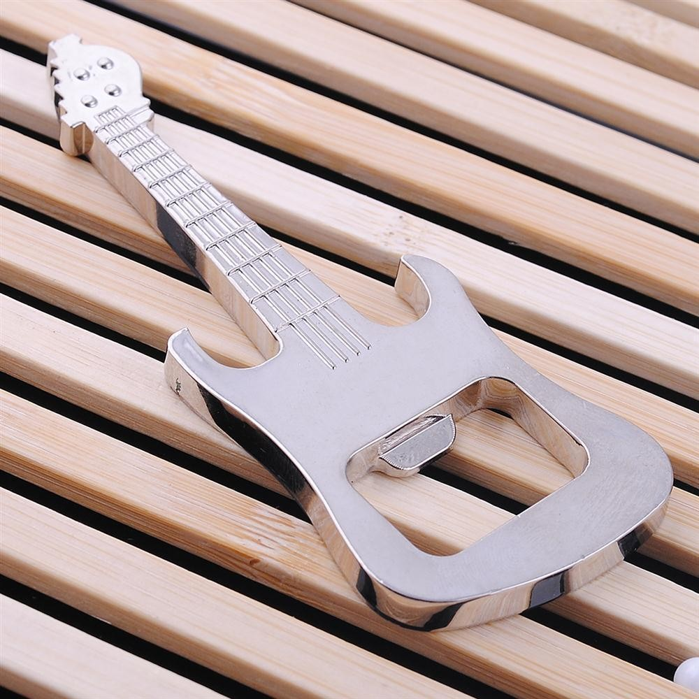 Guitar Metal Gift Bottle Opener Keyring