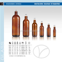 shandong pharmaceutical glass Amber, Clear,Cobalt Blue, & Green Boston Round Glass Bottles
