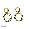 fashion earring designs new model milk cow earrings gold hoop earring