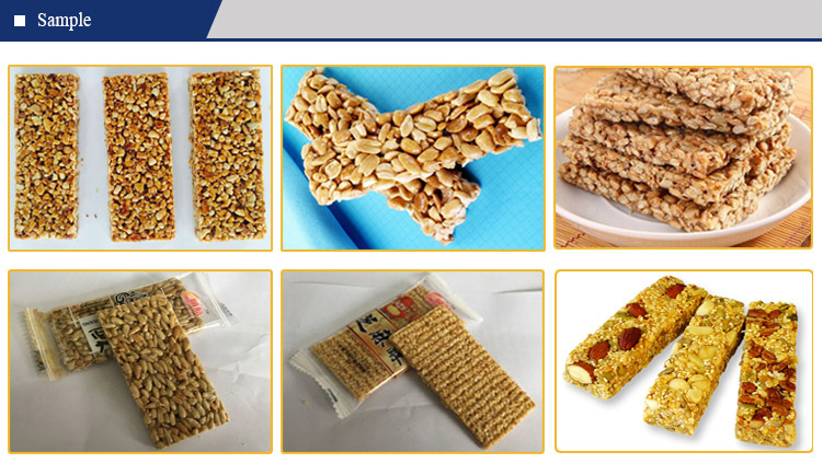 Sesame seed Candy Cereal Protein Granola Nut Bar Maker Processing Equipment Peanut Brittle
