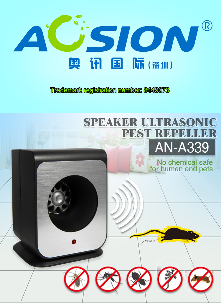 Aosion unmatched frequency ultrasonic pest repeller
