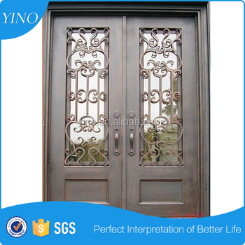 Factory direct wrought iron entry door wrought iron door ID001