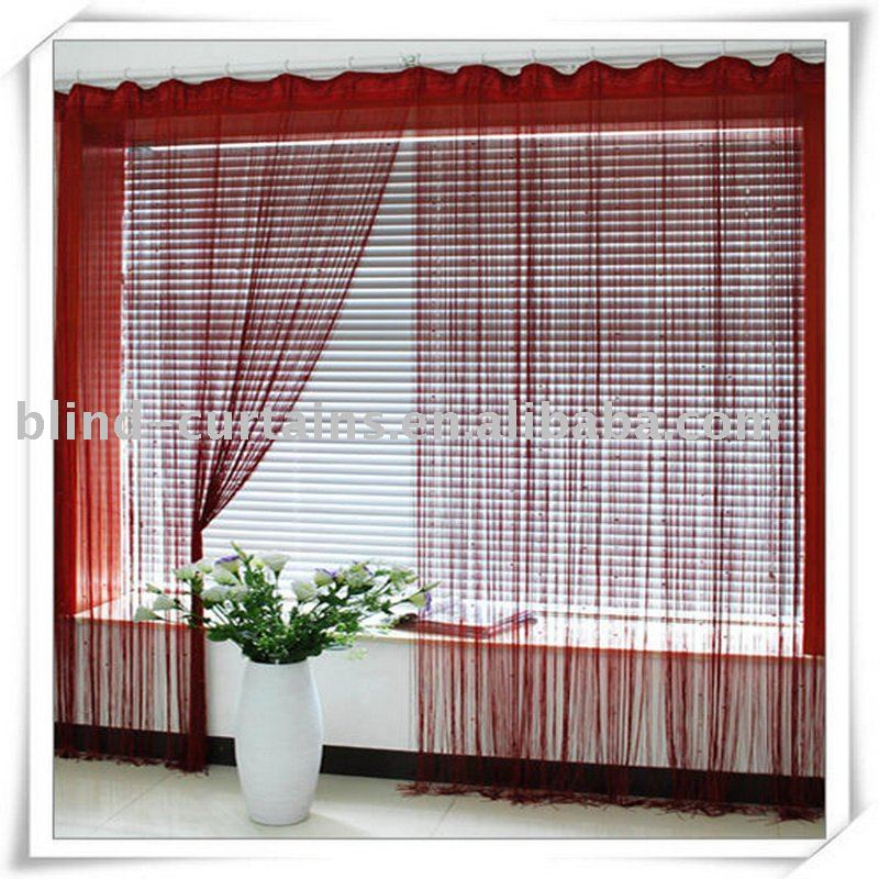 Red string curtain type