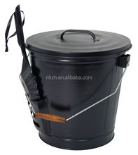 household ash collect metal ash bucket with lid