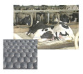 Classical Livestock Rubber Product- Hammer Cow Mat With Bubble On Surface For Sleeping and Walking