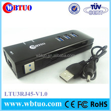 3 Port Usb3 Ethernet Hub To Female Rj45 Lan Adapter Card