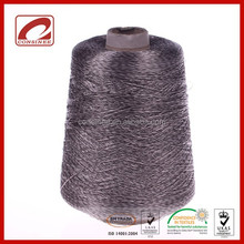 Fancy flat yarn pure viscose component spun viscose knitted yarn for hot sale