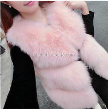 Nice Look Outdoor Fake Fur Vest Fashion Sleeveless Women Faux Fur Vest