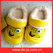 Yellow Cartoon Sandals Covered Plastic Shoe