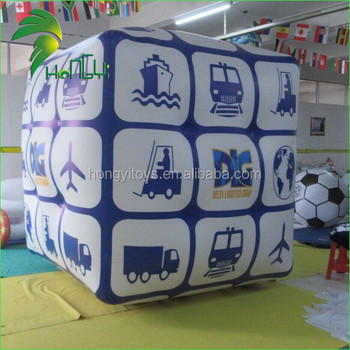 Custom Made Advertising Inflatable Cube Helium Floating Balloon