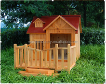 Wooden Pet Dog Squeak Porch Pups Dog House