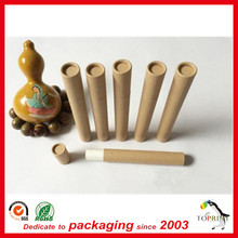 Small 2oz paper tube for tea packaging with aluminum foil seal conister tea box