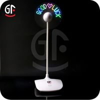 New Product Ideas 360 Degree Rotation Micro 5 Pin LED Electric Fan Wholesale