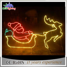 2017 New product christmas motif led 2d reindeer light With sleigh
