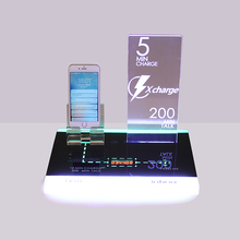 Hot selling customizable acrylic mobile phone display board holder stand