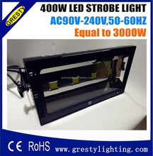 400w stage strobe light DMX512 led 90v 100v 110v 120v 220v 240v are all applicable , high brightness same