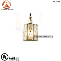 Islamic Brass Lamp with Glass Shade