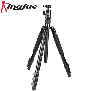 Aluminum multi-functional 4 section photo ball head tripod for telescope camera dslr