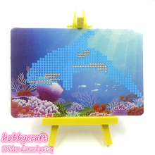 Sea fish style pictures diy crystal diamond painting set on canvas size 10*15cm