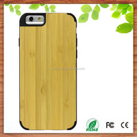 factory cheap price real natural bamboo mobile phone case for iphone 6s 6s plus, bamboo hard back case for iphone 6s