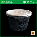 Custom printed heat insulation paper bowl ripple paper soup cup