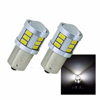 2PCS Xenon White 1156 / Ba15s 18 5630 5730 SMD LED Car Auto Turn Brake Stop Reverse Light Bulbs Lamp White