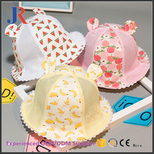 2017 high quality cheap printing bucket wholesale sun shade hat,straw baby hat