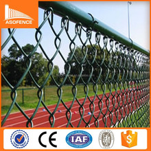 Factory price used chain link fence for sale/ pvc coated residential chain link fence/ portable chain link fence panel